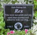 Rex Headstone