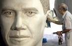 cleaning obama's giant ear