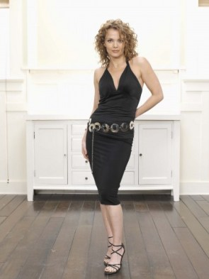 dina meyer – black dress