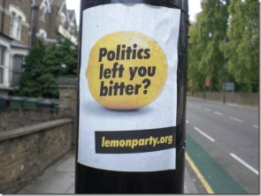 Politics left you bitter?