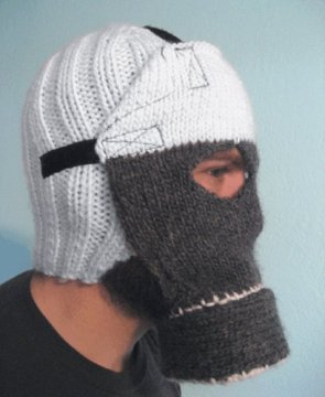 knitted gas mask