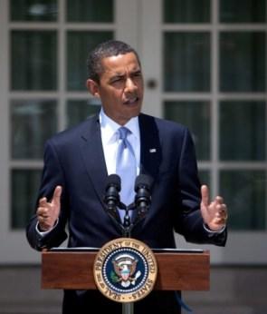 obama in the sun