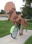 t-rex bike rider