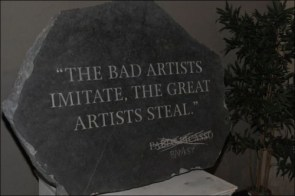 the bad artists imitate, the great artists steal – banksy
