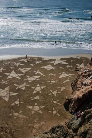 Sand Crop Circles