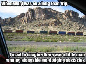 Whenever I was on a long road trip