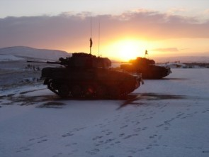 morning snow tanks
