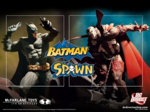 Batman Vs Spawn Statues