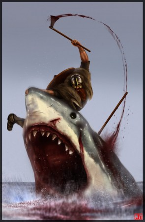 Viking vs Shark
