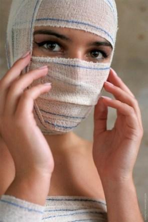 bandaged woman