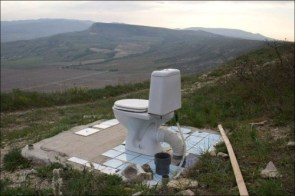 crapper with a view