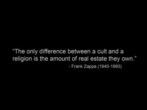 frank zappa on the difference between religions and cults