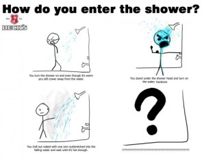 how do you enter the shower