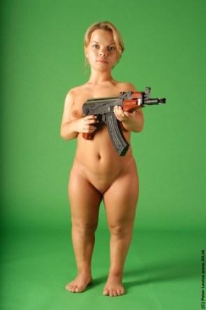 nsfw – nude midget with ak-47