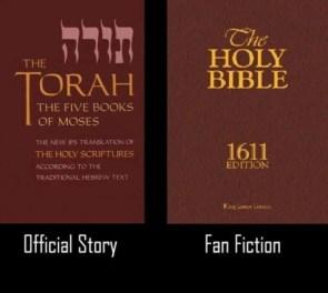 official story vs fan fiction