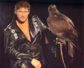 the hoff with a hawk