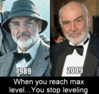 when you reach max level, you stop leveling