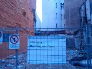 404 error – building not found