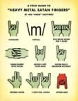 Heavy Metal Satan Fingers Chart