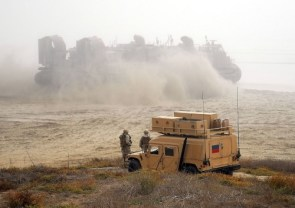 lcac in sand