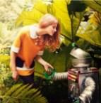 robot in garden