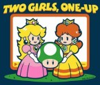 two girls, one-up