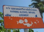 warning – alcohol impairs judgment – fish kisser