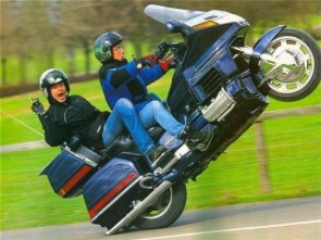 goldwing wheelie