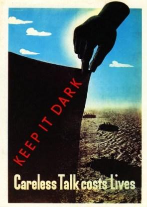 keep it dark – careless talk costs lives