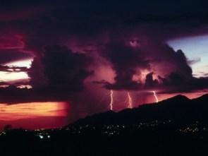 purple thunder storm