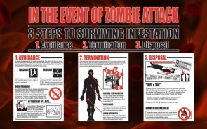 3 steps to survive infestation of a zombie attack