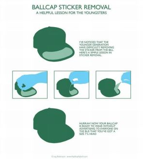 ballcap sticker removal instructions