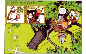 calvin and hobbes – working hard at this