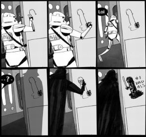 darth vader corrects penis graphitti