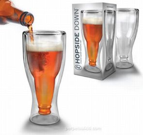 upside down beer