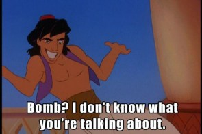 bomb – I don't know what you're talking about