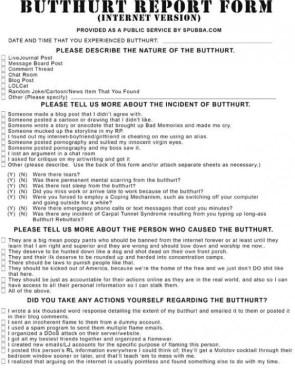 butthurt report form – internet version