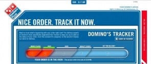 dominos pizza order status screen