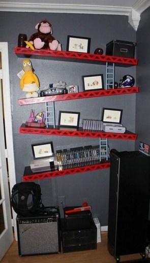 donkey kong book shelf