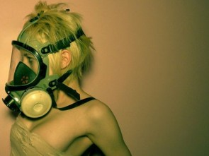 gas mask woman