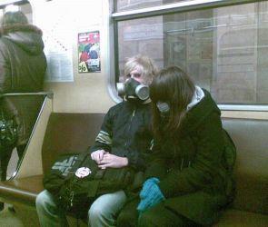 gas masks on a sub