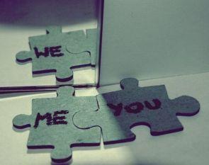 me + you – we