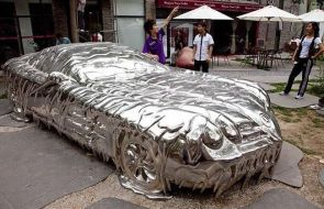 melted car