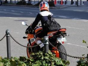 school girl motorcyclist