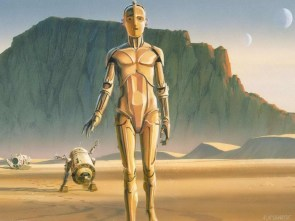 star wars concept art – a2-d2 and C3PO