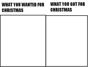 what you wanted for christmas vs what you got