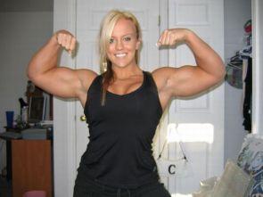 muscular blonde woman