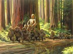 star wars concept art – ewoks and their shiney god