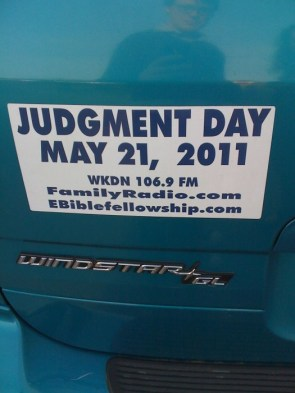 Judgment Day = May 21, 2011