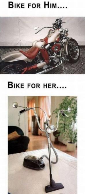 bike for him vs bike for her